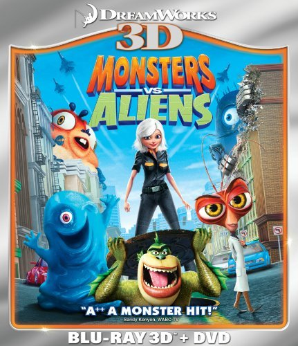 Monsters Vs. Aliens 3d Monsters Vs. Aliens 3d Blu Ray 3d Ws Pg Incl. DVD