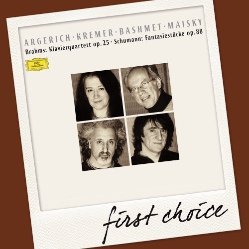 Brahms Schumann Piano Quartet Op. 25 No. 1 Fan First Choice Argerich Kremer