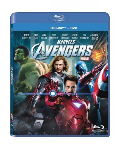 Avengers (2012) Downey Jr. Evans Ruffalo Hemsworth Blu Ray DVD Pg13 Ws