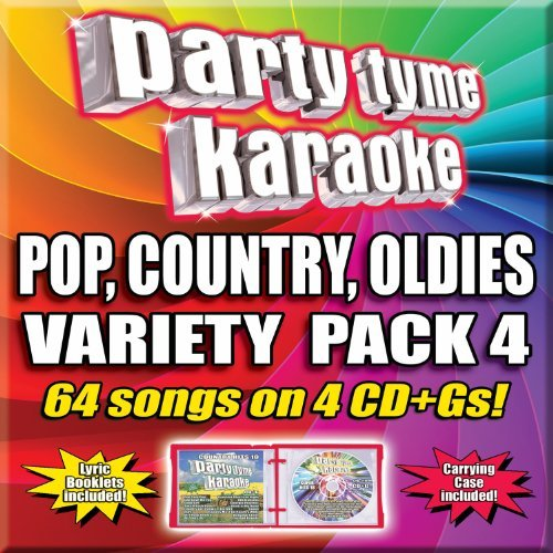 Party Tyme Karaoke Vol. 4 Variety Pack 4 CD 64 Song Party Pack