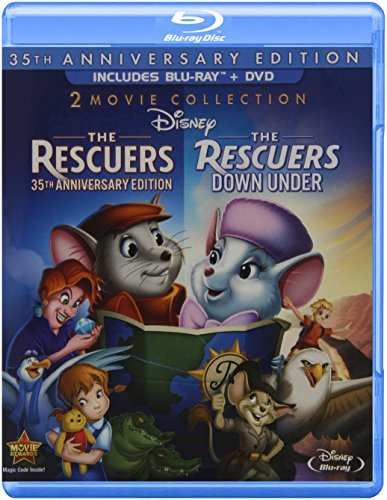 Rescuers Rescuers Down Under Disney Blu Ray DVD G