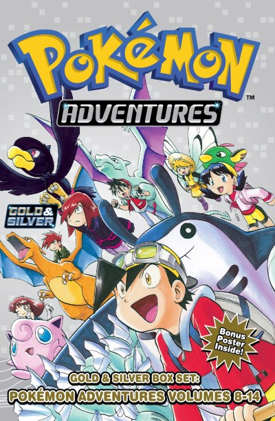 Hidenori Kusaka Pokemon Adventures Gold & Silver Box Set Volumes 8 14