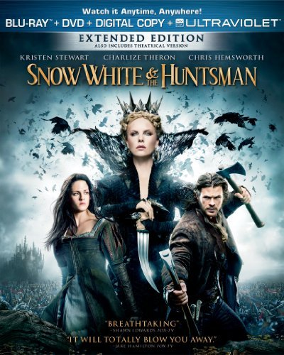 Snow White & The Huntsman Stewart Theron Hemsworth Blu Ray DVD Pg13