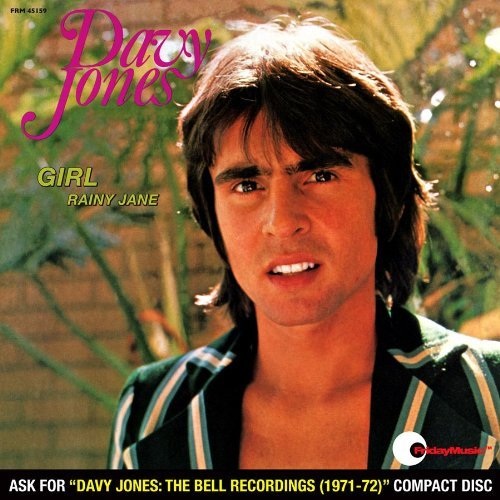Davy Jones Girl Lmtd Ed. Red Vinyl B W Rainy Jane