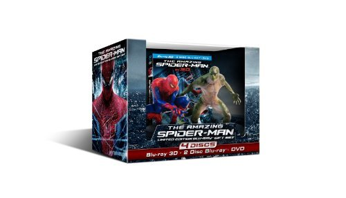Amazing Spider Man (2012) 3 D Garfield Sheen Stone Blu Ray Ws Lmtd .Ed Pg13 4 Br
