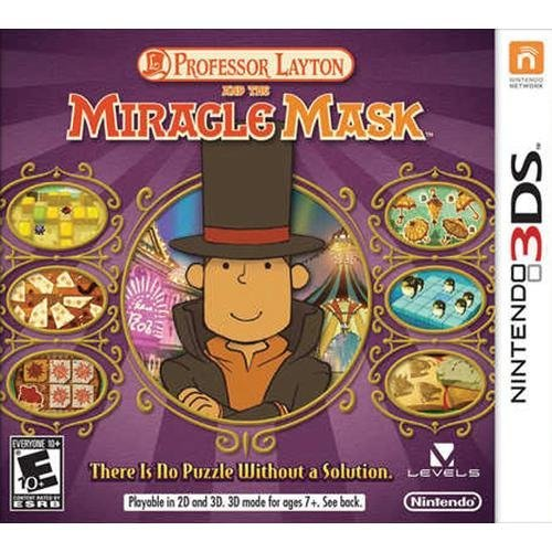 Nintendo 3ds Professor Layton & The Miracle Mask