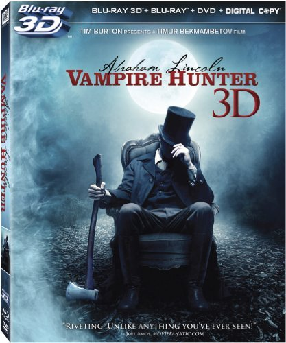 Abraham Lincoln Vampire Hunte Walker Cooper Sewell Blu Ray 3d Ws R Incl. DVD Dc