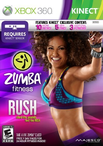 Xbox 360 Kinect Zumba Fitness Rush Majesco Sales Inc. E10+