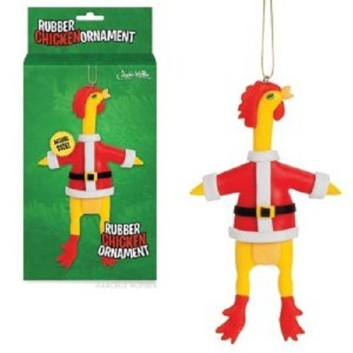Gift Ornament Rubber Chicken