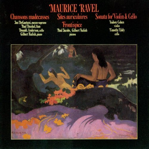 M. Ravel Songs Violin & Cello Sonata De Gaetani Jacobs Kalish
