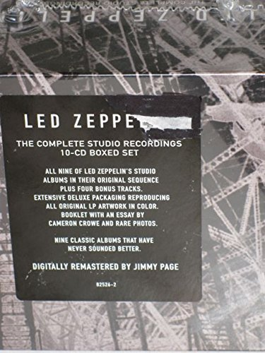 Led Zeppelin Complete Studio Recordings Incl. Book & Photos 10 CD