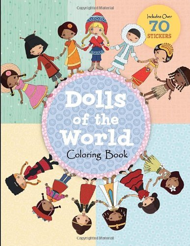 Jessica Secheret Dolls Of The World Coloring Book