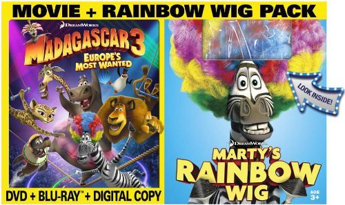Madagascar 3 Europe's Most Wanted Madagascar 3 Europe's Most Wanted Blu Ray DVD Dc Pg