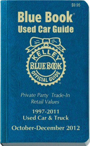 Kelly Blue Book Kelley Blue Book Used Car Guide 1997 2011 Models Consumer Octob