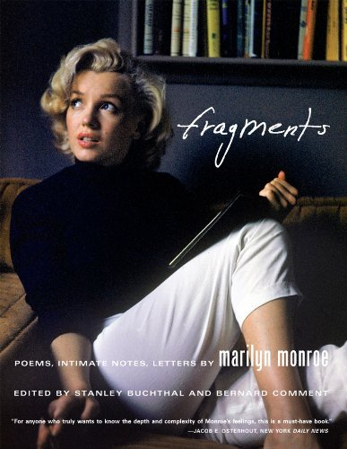 Marilyn Monroe Fragments Poems Intimate Notes Letters
