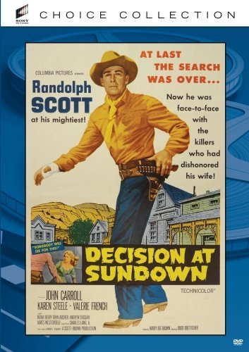 Decision At Sundown (1957) Scott Carroll Steele Ws DVD R Nr