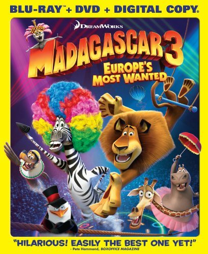 Madagascar 3 Europe's Most Wa Madagascar 3 Europe's Most Wa Blu Ray Ws Pg Incl. DVD Dc Uv