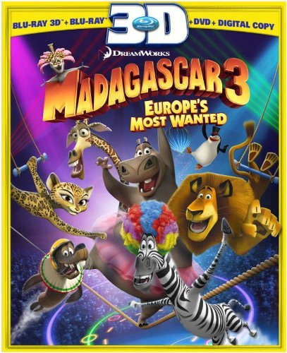 Madagascar 3 Europe's Most Wa Madagascar 3 Europe's Most Wa Blu Ray 3d Ws Pg 2 Br Incl. DVD Dc