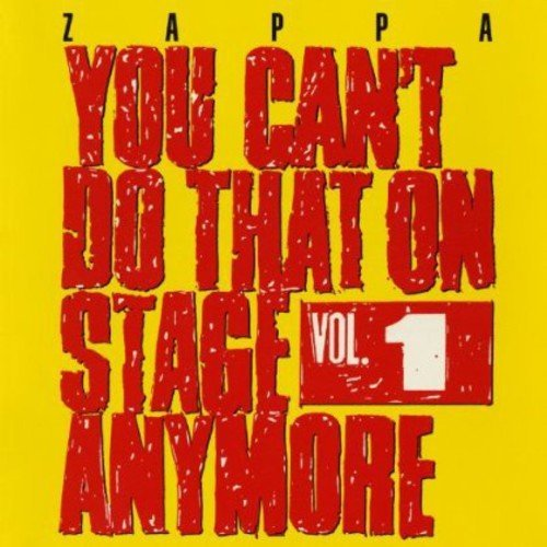 Frank Zappa Vol. 1 You Can't Do That On St 2 CD