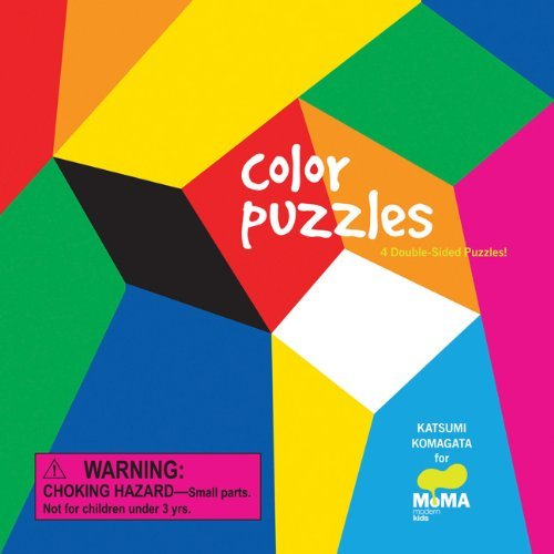 Katsumi Komagata Moma Color Puzzles 4 Double Sided Puzzles