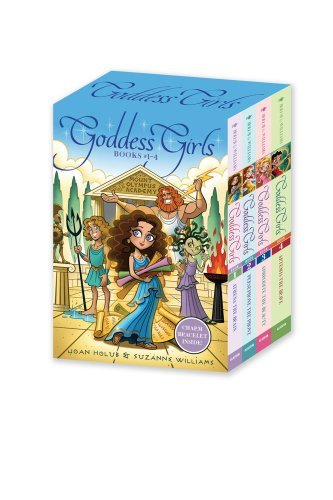 Joan Holub Goddess Girls Books #1 4 (charm Bracelet Inside!) Athena The Brain; Persephone The Phony; Aphrodite Boxed Set