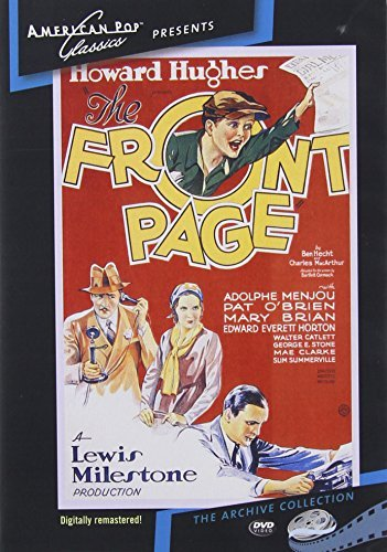 Front Page (1931) Menjou O'brien Brian Made On Demand Nr