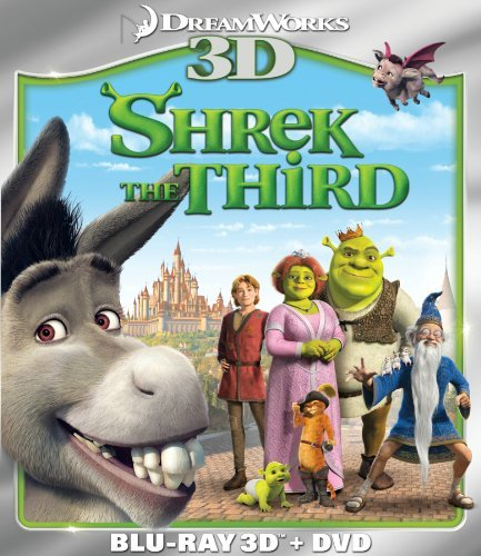 Shrek The Third 3d Shrek The Third 3d Blu Ray 3d Ws Pg Incl. DVD