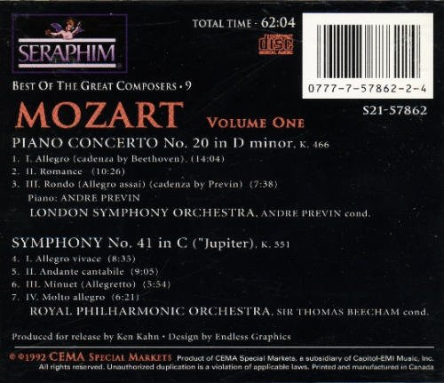 Mozart W.A. Vol. 9 Best Of The Great Compo