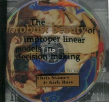 Chris Stamey Robust Beauty Of Improper Linear Models In Dec