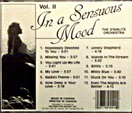 Starlite Orchestra In A Sensuous Mood Vol 2