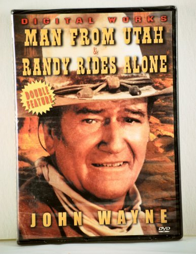 Man From Utah Randy Rides Alone Wayne John Double Feature