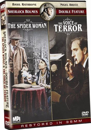 Spider Woman Voice Of Terror Sherlock Holmes Double Feature Nr