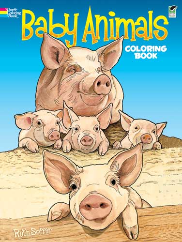 Ruth Soffer Baby Animals Coloring Book