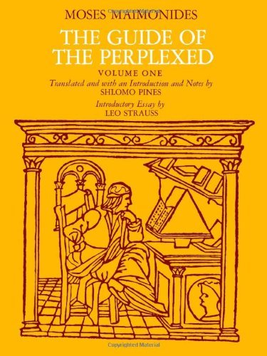 Moses Maimonides The Guide Of The Perplexed Volume 1 0205 Edition;revised