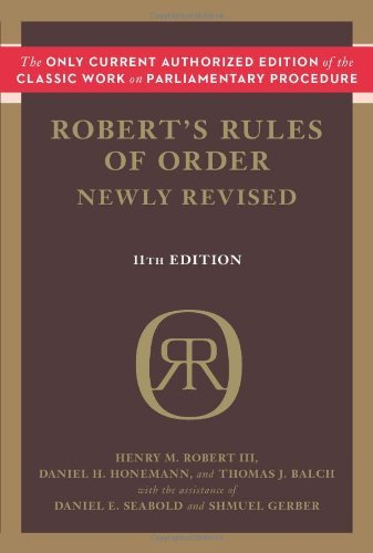 Robert Henry M. Iii Robert's Rules Of Order 0011 Edition;revised
