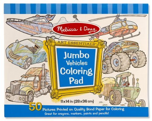 Toy Jumbo Coloring Pad Vehicles