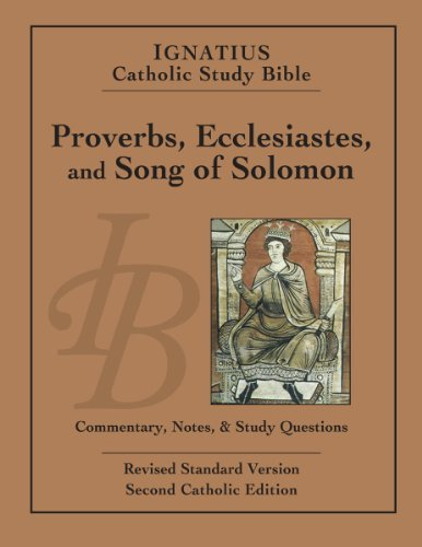 Scott Hahn Ignatius Catholic Study Bible Proverbs Ecclesiastes And Song Of Solomon