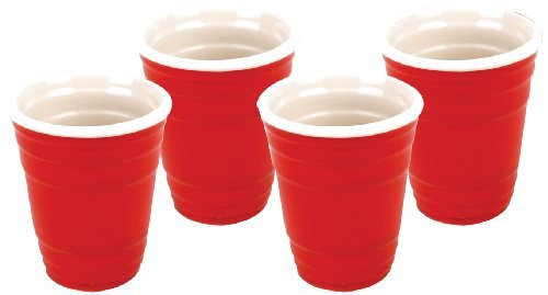 Novelty Red Cup Shot Glass Set 4pk
