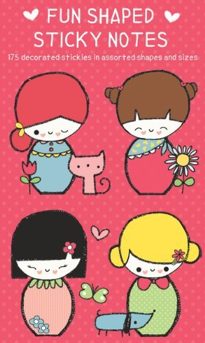 Galison Japenese Dolls Shaped Sticky Notes