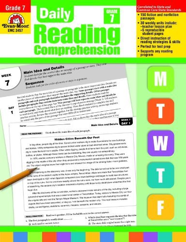 Evan Moor Educational Publishers Daily Reading Comprehension Grade 7 Te Teacher
