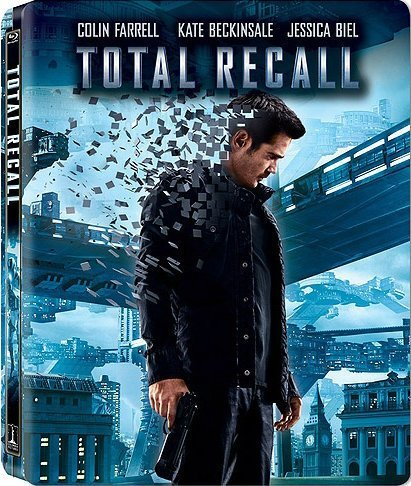 Total Recall (2012) Farrell Beckinsale Cranston Blu Ray Extended Director's Cut Steelbook