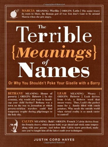 Justin Cord Hayes The Terrible Meanings Of Names Or Why You Shouldn't Poke Your Giselle With A Bar
