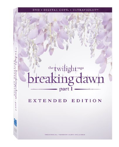 Twilight Breaking Dawn Part 1 Pattinson Stewart Lautner DVD Dc Uv Extended Version Pg13
