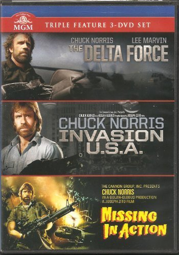 Chuck Triple Feature Norris Delta Force Invasion U.S.A. Missing In Action