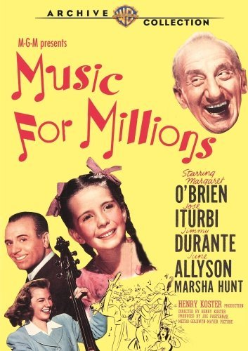 Music For Millions (1944) O'brien Iturbi Allyson Made On Demand Nr