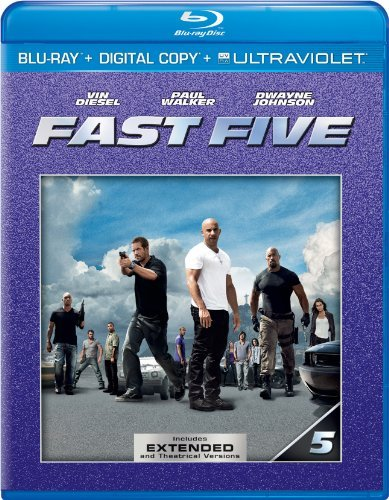 Fast Five Diesel Walker Johnson Blu Ray Ws Pg13 Incl. Uv Dc