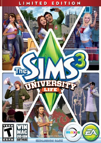 Pc Games Sims 3 University Life Electronic Arts T