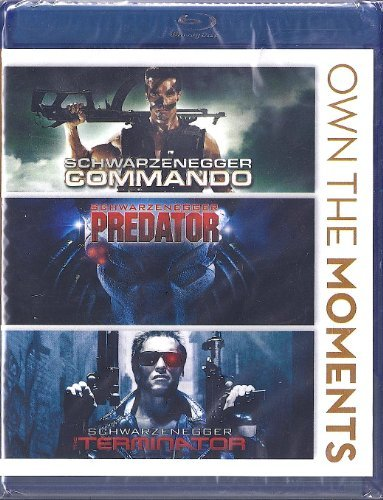 Commando Predator Terminator Triple Feature Blu Ray