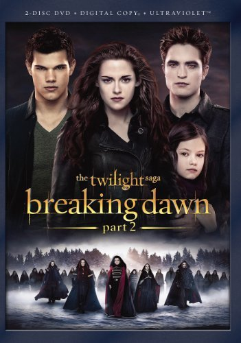 Twilight Breaking Dawn Part 2 Pattinson Stewart Lautner DVD Dc Uv Pg13