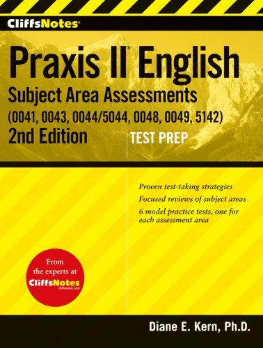 Diane E. Kern Cliffsnotes Praxis Ii English Subject Area Assessm 0002 Edition;